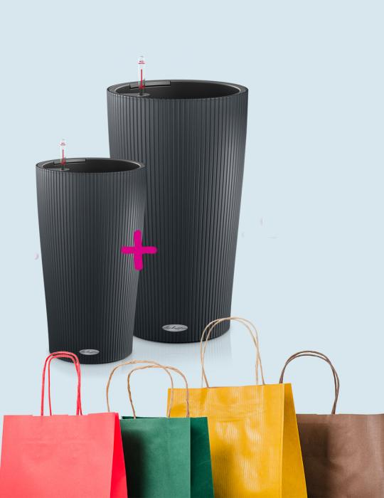 Angebot Lechuza Stores Cilindro Set Grau 052019